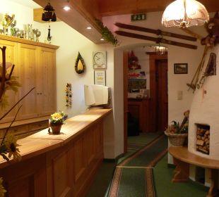 Rezeptionsbereich Hotel Alpenhof