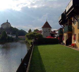 Hotel mit Blick auf das Schloss Hotel Thaya