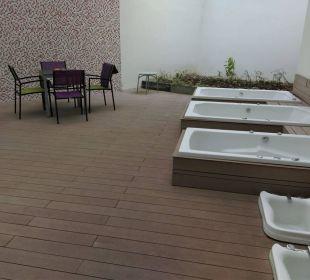 Außenbereich des Wellness-Bereichs Hotel Klee