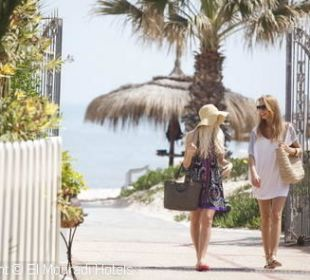 Entrée plage Hotel El Mouradi Palm Marina