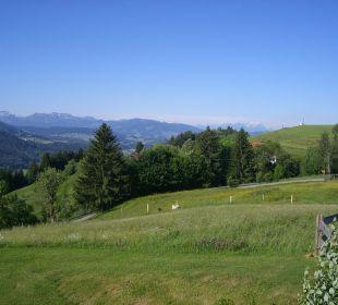 Ausblick von der Terrasse Richtung Säntis/Schweiz Berghof am Paradies