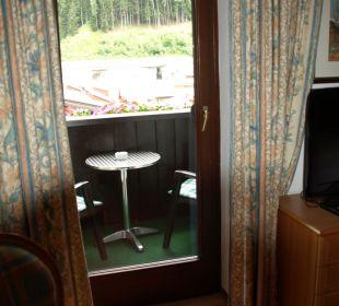 Einer der Balkons Hotel Post