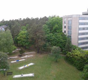 Blick aus Haus 3 auf Haus 2 Familotel Hotel Sonnenhügel