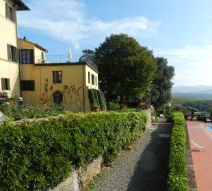 Villa/Haupthaus mit unterem Pool Hotel & Wine Resort Villa Dievole