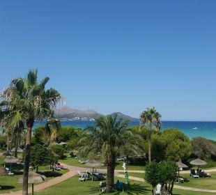 Blick vom Zimmer auf die Bucht Aparthotel Esperanza Park