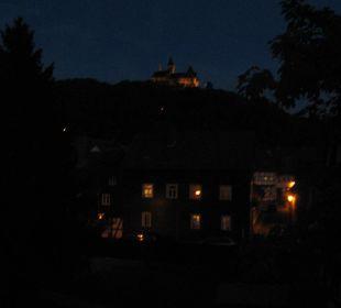 Schloss und Hofseite bei Nacht Apart Hotel Wernigerode