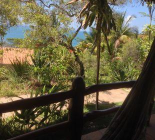 Blick von meiner Veranda Hotel Pousada Colibri