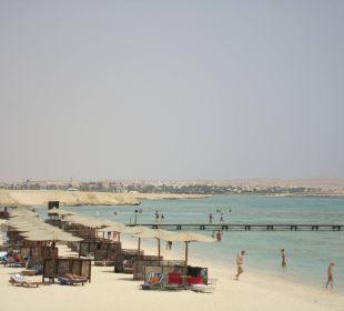 Strand in Richtung Port Ghalib