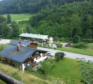 Blick von oben, im Hintergrund die Martinsklause Gästehaus Martinsklause