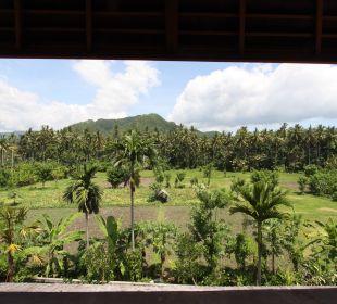Rumah isah - Blick auf die Reisfelder Nusa Indah Bungalows & Villa