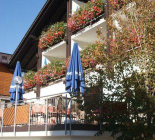 Haupthaus und Terrasse Hotel Zur Linde