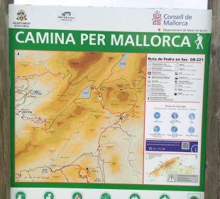 Wanderkarte der Umgebung SENTIDO Porto Soller