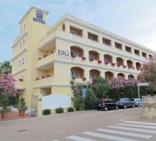 Hotel von vorne Hotel Gabbiano Azzurro