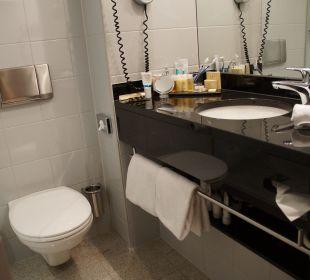 Waschbecken und WC, Dusche links K+K Hotel George