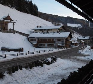 Blick vom Balkon Richtung Pfarrkirche Gästehaus Martinsklause