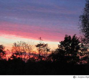Sonnenuntergang auf dem Birkenhof Birkenhof Neuharlingersiel