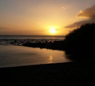 Sonnenuntergang am Strand Hotel Gran Rey