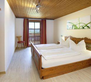 Panoramablick Schlafzimmer Ferienwohnungen Berghof Kinker