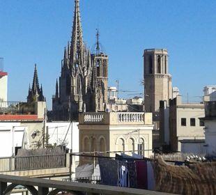 Aussicht vom Balkon NH Barcelona Centro