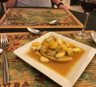 Nachspeise beim Cubaner Hotel Alba Royal