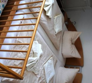 Doppelbett im Familienzimmer