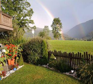 So ein schöner Regenbogen...und gleich vor der Tür Ferienwohnungen Neumaier