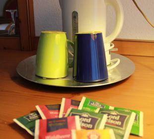 Teeauswahl auf dem Zimmer Hotel Müllers Löwen