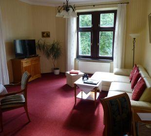 Wohnzimmer Premiumsuite Schlosshotel Stecklenberg