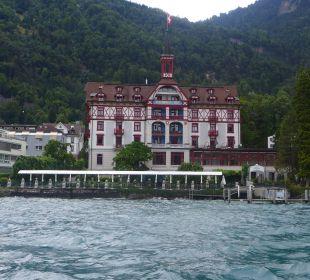 Blick vom Schiff Hotel Vitznauerhof