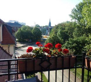 Richtung Stadtmitte und Park Asbach Appartements Weimar