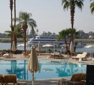 Blick von der Terrasse Achti Resort Luxor