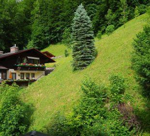 Blick vom Balkon der Einzelzimmer Alpenhotel Fischer