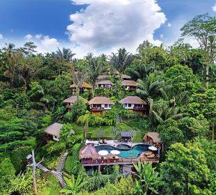 Aerial View Hotel Nandini Bali Jungle Resort & Spa