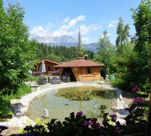 Étang vue depuis notre châlet Gartenhotel Rosenhof