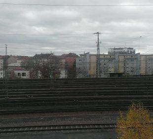 Bahngleise Motel One Nürnberg-City