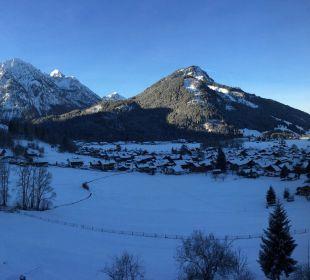 Zimmeraussicht aufs Bergpanorama Hotel Prinz - Luitpold - Bad