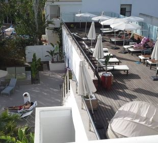 Sonnenterrasse, Treppe zum Pool JS Hotel Sol de Alcudia
