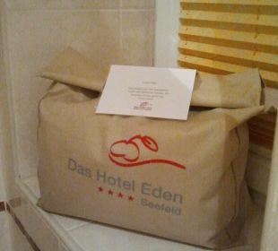 Badetuch für Sauna und Bad Das Hotel Eden