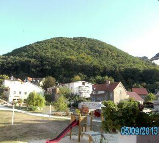 Blick vom Zimmer Ferienpark Bodetal