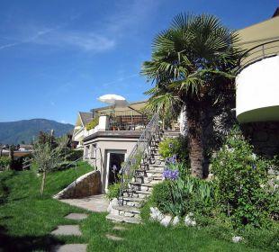 Zugang zur Gartenterrasse Hotel Zirmerhof