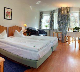 Blick in ein Gästezimmer Hotel 2 Länder