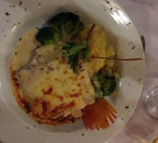 Lasagne im italienischen Restaurant VIK Hotel Cayena Beach Club