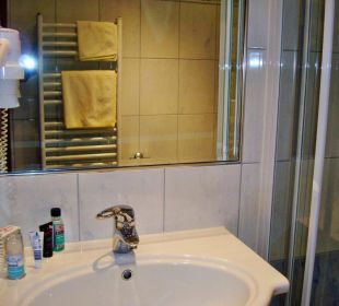 Bad im Einzelzimmer 106 Hotel Mosser Hotel Mosser