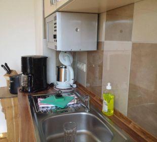Küche mit Esstisch Asbach Appartements Weimar