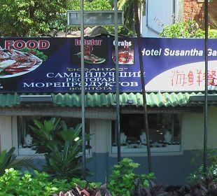 Schild - Werbung  Hotel Susantha Garden