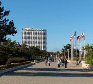 Blick von der Promenade Hotel Neptun