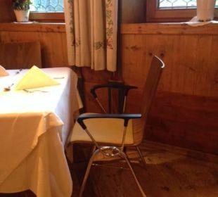 Tisch mit Eventbestuhlung Hotel Krallerhof