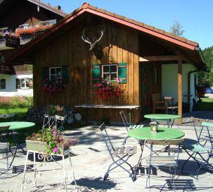 Grillhütte im Garten Hotel Mühlenhof