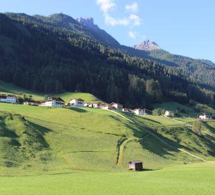Blick vom Balkon auf den Elfer Pension Ausserwieserhof