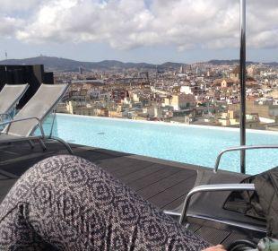 Blick von der Dachterrasse mit Pool Hotel Andante